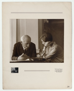 Fritjof Nansen is interviewed by the English journalist Miss Round, Geneva