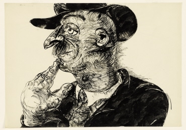 Untitled (Thoughtful Man with Hat)