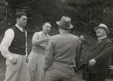 Max Schmeling im Trainingscamp in Greenkill Lodge/Kingston New York