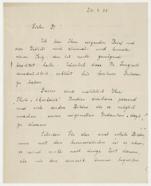Brief von Kurt Korff an Erich Salomon