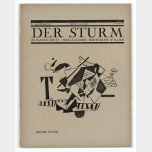 "Der Sturm: Monthly Magazine for Culture and the Arts. With illustration of the drawing ""Fox Trott"" by Ivan Puni on the title page"