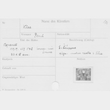 Index Cards in the Documentary Estate of Ferdinand Möller
