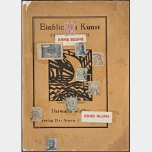 Insight into art. Expressionism, Futurism, Cubism. Collaged title page by Kurt Schwitters. Berlin: publishing house Der Sturm